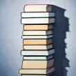 Very high stack of books — Stock Photo