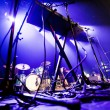 Dark image of a stage ready for a music band live performance — Stock Photo