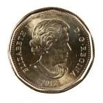 Ottawa, Canada, Avril 13, 2013, A brand new shiny 2012 Canadian dollar — Stock Photo #26058417