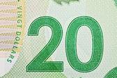 Ottawa, Canada, Avril 13, 2013, Extreme Closeup of New Polymer Twenty Dollar Bills — Stock Photo