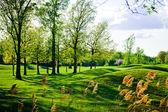 Eski ve güzel engebeli golf sahası — Stok fotoğraf