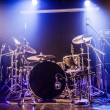 Drumkit on empty stage waiting for musicians — Stock Photo #34413621