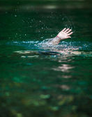 Hand of Someone Drowning and in Need of Help — Stock Photo