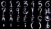 Light Painting Numeral Alphabet — Stock Photo
