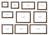 The Ten Most popular Selling Frames Dimensions — Stock Photo