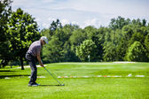 Mature Golfer on a Golf Course — Stockfoto