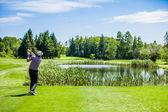 Mature Golfer on a Golf Course — Zdjęcie stockowe