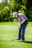 Mature Golfer on a Golf Course — Stock Photo