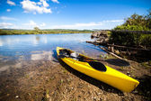 Yellow Kayak Ready to be Used — Stock Photo