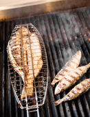Fish on the grill — Stock fotografie