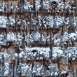 Cedar Shingles during a cold Winter Day — Stock Photo