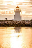 Backlit Lighthouse in Gaspe Peninsula — Stock Photo