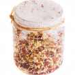 Top View of Sprouting Radish Seeds Growing in a Jar — Stock Photo #43076997