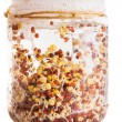 Sprouting Radish Seeds Growing in a Glass Jar — Stock Photo #43076999