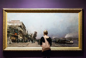 Huge Painting at the Montreal Fine Arts Museum — Stock Photo