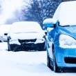 Parked Cars on a Snowstorm Winter Day — Stock Photo #43122989