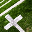 White Cross in a Old Cemetery — Stock Photo #47153481