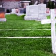 White Cross in a Old Cemetery — Stock Photo #47153681