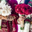 Two Indian Wedding Bouquets and brides — Stock Photo #47156837