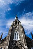 XXXL Church Steeple Panorama and Sky — Stock Photo