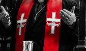 Orthodox Priest and Red Stole details — Stock Photo