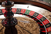 Wooden Shiny Roulette Details in a Casino — Stock Photo