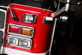 Firetruck Details of the Front and Lights — Stock Photo