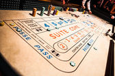 Craps Table and People Gambling all Around — Stock Photo