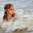 Young Girl Body Surfing — Stock Photo #22248617
