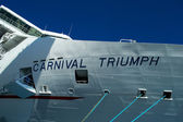 Carnival Triumph Bow Name Sign — Stock Photo