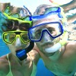 Couple snorkeler in ocean — Stock Photo #21862807