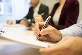 Business people hands working with documents — Foto Stock