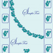 Royalty-Free Stock  : Blue floral invitation card