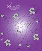 Abstract purple invitation card — Stock Vector