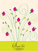 Spring floral invitation card — Stock Vector