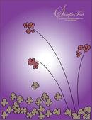 花卉紫色邀请卡 — 图库矢量图片