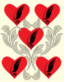 Hearts wallpaper — Stock Vector