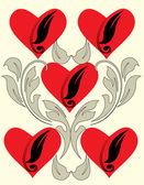 Hjärtan tapeter — Stockvektor