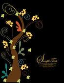 Elegant tree invitation card — Stock Vector