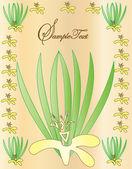 Flower invitation card — Stock Vector