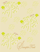 Elegant trees invitation card — Stock Vector