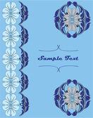 Elegant blue invitation card — Stock Vector