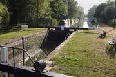 Kintbury Lock near Newbury. Berkshire. England — Stock Photo
