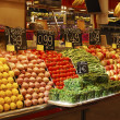 Display of fruit on market stall. Barcelona. Spain — Stock Photo #30847969