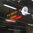 Train platform illuminated sign. Barcelona. Spain — Stock Photo