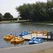 Boating pond at Littlehampton. Sussex. England — Stock Photo