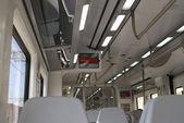 Interni di carrozza ferroviaria. Barcellona. Spagna — Foto Stock