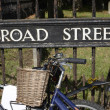 Broad Street sign. Oxford. England — Stock Photo