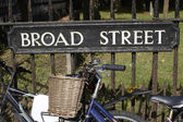Broad Street sign. Oxford. England — 图库照片