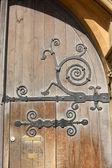 Wooden door to Balliol College. Oxford. England — Foto Stock